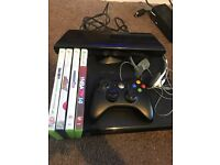Xbox 360 elite slim 250g black with Kinect headset 4 games and 1 controller