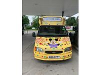 Ford transit ice cream van.