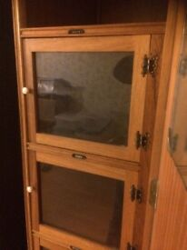 1960 wardrobe pair and matching dressing table