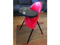 Baby Bjorn high chair red and excellent condition