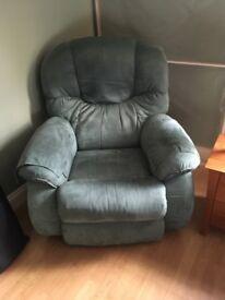 Lazy boy green chair