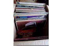 A box of records