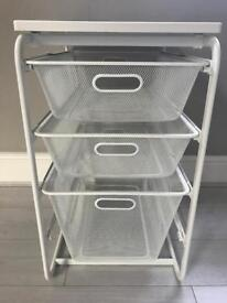 Three-Tier Storage Drawer Unit