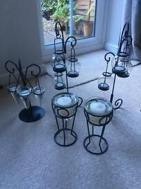 Black Iron Candle Holders