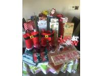 Box Of Christmas Decorations - (See Listing For Details Of Everything Included + All Photos)