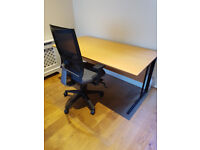 Home/Office Desk, Chair and Chair Mats