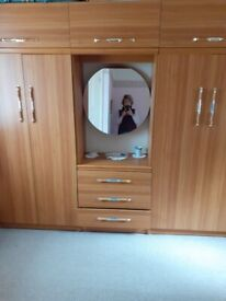 2 x Double Wardrobe unit and chest of drawers