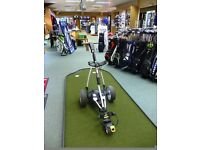 Powakaddy FW5 Electric Trolley - With Lithium Battery And Charger - White