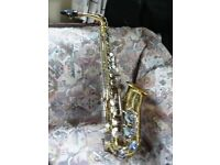 Alto Saxophone Con starburst 24M American made. Fully serviced, New mouthpiece & Ligature