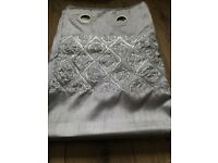 Grey sequin curtains