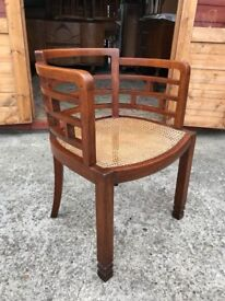 Antique Chinese Chair Bergere Horse Shoe Dynasty Carver Armchair - Delivery Available