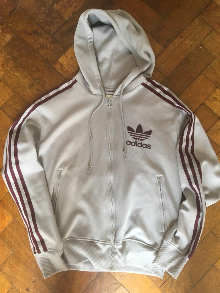 499510f3e529 Retro vintage Adidas zip up hoody - small