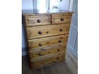 Chest of Drawers, Solid pine.
