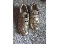 Missouri gold diamante trainers - Size UK 1 / Size 33