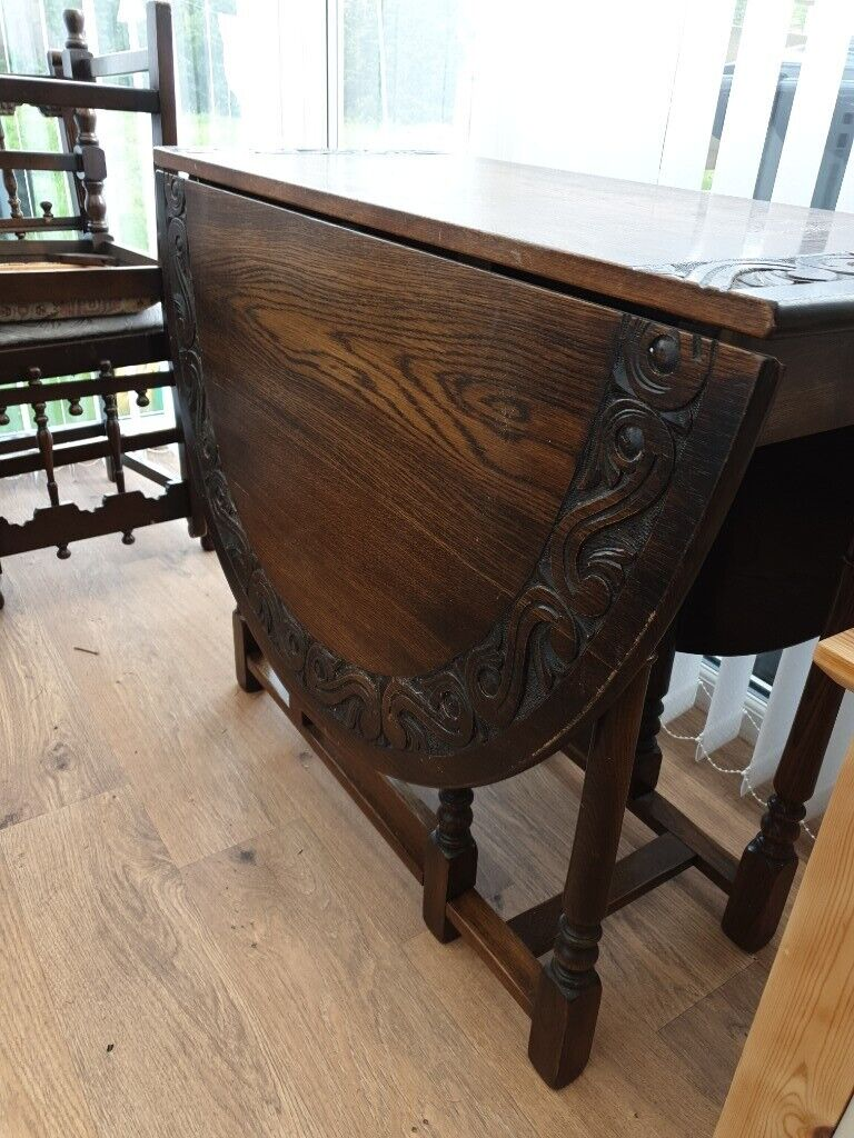Rosewood Carved Table And 4 Chairs In Lincoln