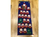 NEW Hanging Felt Santa Advent Calendar with Gift Pockets