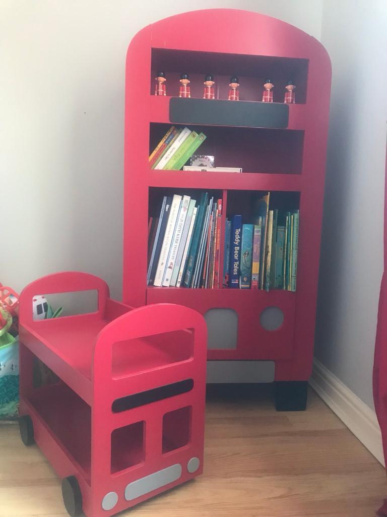 London Bus Bookcase And Shelf In Bedlington