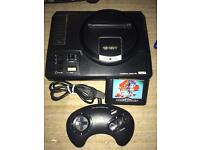 Sega Megadrive console and sonic