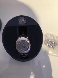 Men's silver citizen eco drive watch
