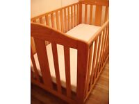 Mother Care Solid Wood Cot Bed/ Toddler Bed