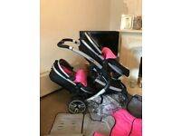 Safe system twin pram for sale