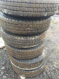 7 like new tyres on ldv convoy rims