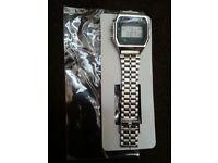 New Stainless Steel Digital Alarm Watch