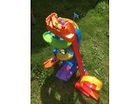 Fisher Price Little People Amusement Park wheelies, loops, swoops