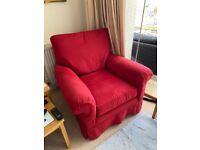 Duresta Red Armchair from John Lewis