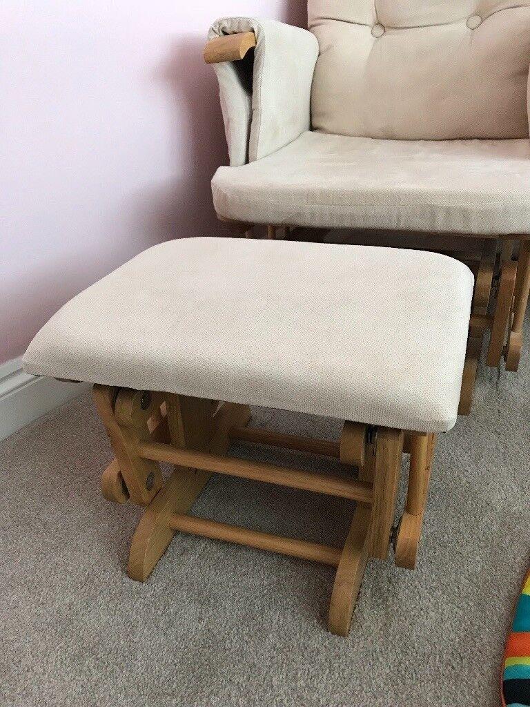 Rocking Nursing Chair & Stool