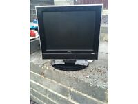 UMC small tv with built in DVD player - no remote or power cable