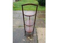 Vintage wooden 3 tier cake stand