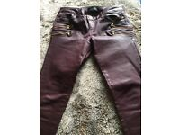 River island waxed jeans