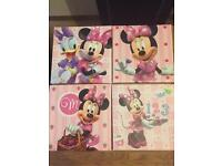 4xminnie Mouse canvases