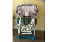 Safari print blue high chair