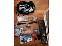 Starter Bag of Unused Fishing Equipment Including Telesopic Rod