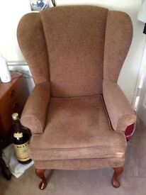 2 Winged back chairs v.g.c £25 each or £40 the 2