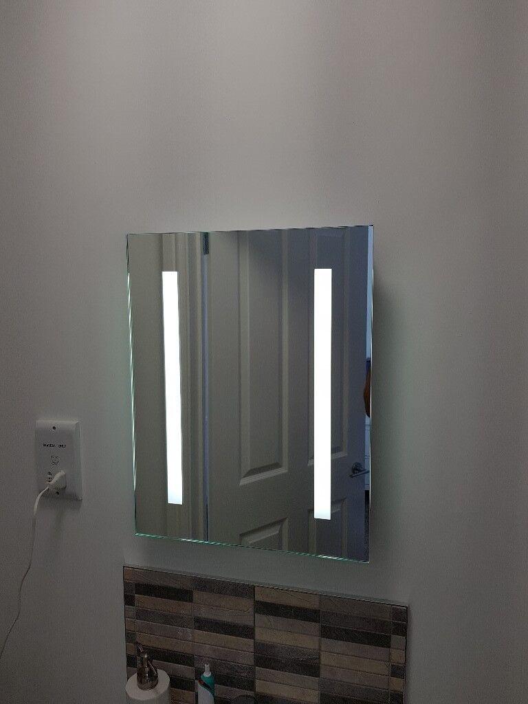 Illuminated Bathroom Mirror Defogger In Pontyclun Rhondda Cynon