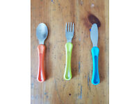 Tommy Tippie Knife Fork Spoon set + easy hold Fork & Spoon