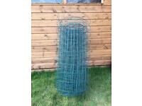 Green PVC coated wire fencing