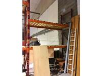 HEAVY DUTY INDUSTRIAL WAREHOUSE PALLET SHELVING RACKING 2 BAY CHEAP CARDIFF