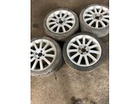 Ford Fiesta st alloy wheels with tyres.