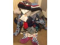 Clothes bundle including coat, hats and a NEXT sleepsuit