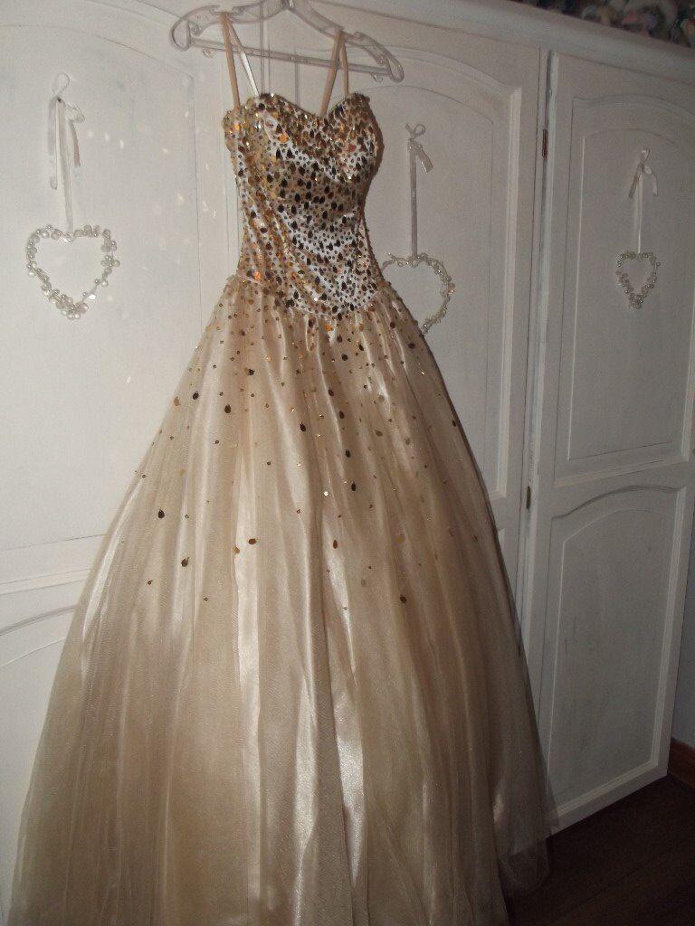 Mia Sposa Champagne Dress*** | in Carlton, Nottinghamshire | Gumtree