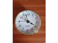 Quartz inset clock