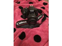 Canon 600D with 18-55mm lens and Gb Memory card.