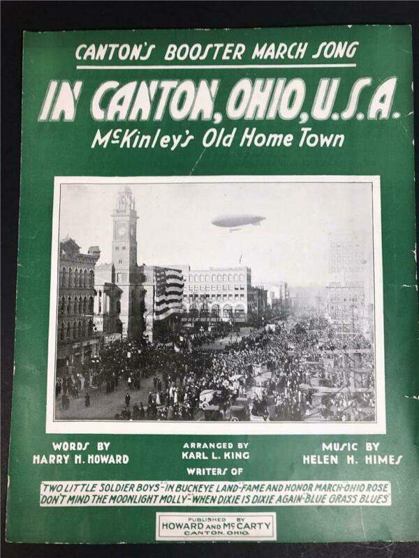 Antique Sheet Music Canton OH March Song McKinley