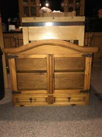 Quality Mexican pine wall unit / counter top in ex con .