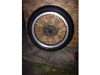Battlax bt45f Bridgestone motorcycle wheel