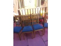 DINING CHAIRS SET X 4 EX COND